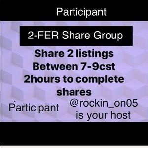 Join us?MoN Thurs & FRI❌❌ share 2 items